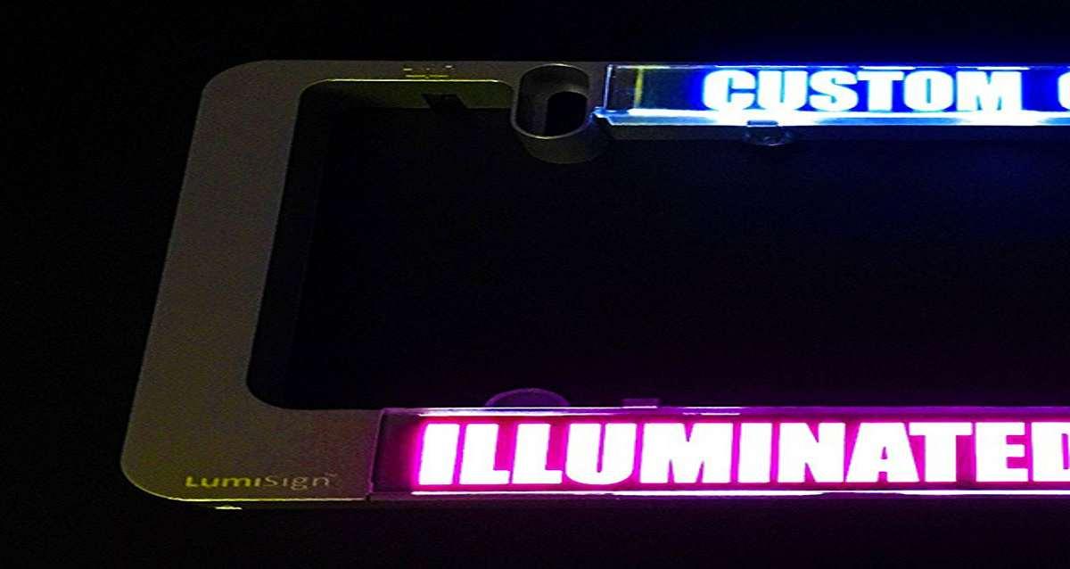 LumiSign Custom LED License Plate Frame | DudeIWantThat.com