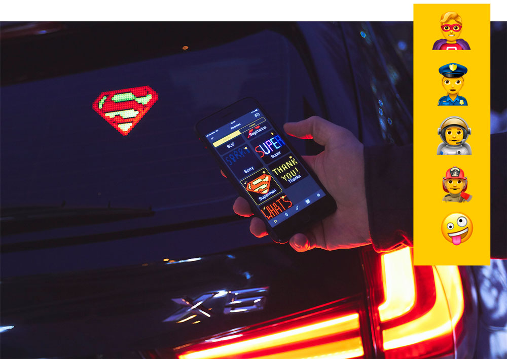 Mojipic Voice-Controlled Emoji Car Display