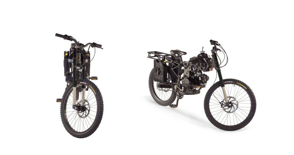 Motoped Survival Bike   DudeIWantThat.com