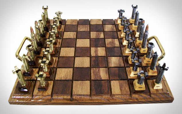 Steel Chess Set bullet chess set | dudeiwantthat