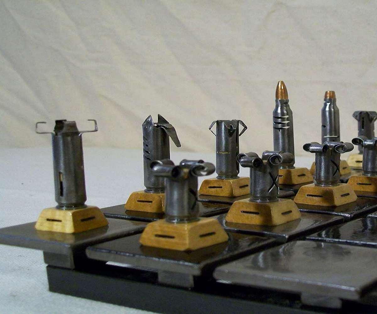 Steel Chess Set Bullet Chess Set  Dudeiwantthat