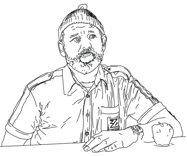 bill murray coloring book - Thrill Murray Coloring Book