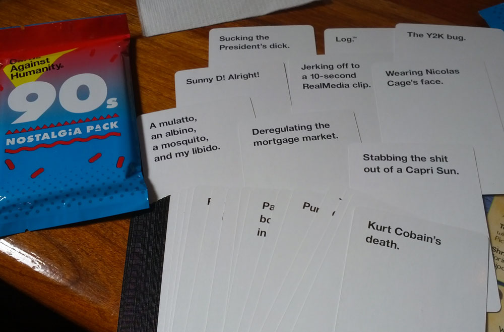 Cards Against Humanity 2000s Nostalgia Pack