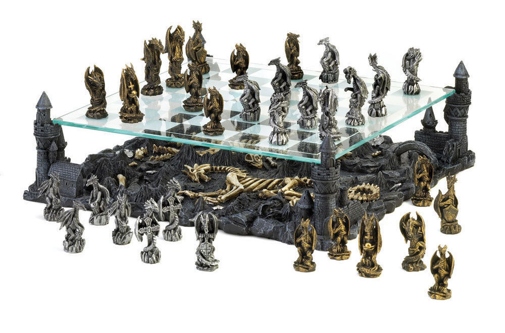 Dragon Chess Set DudeIWantThatcom