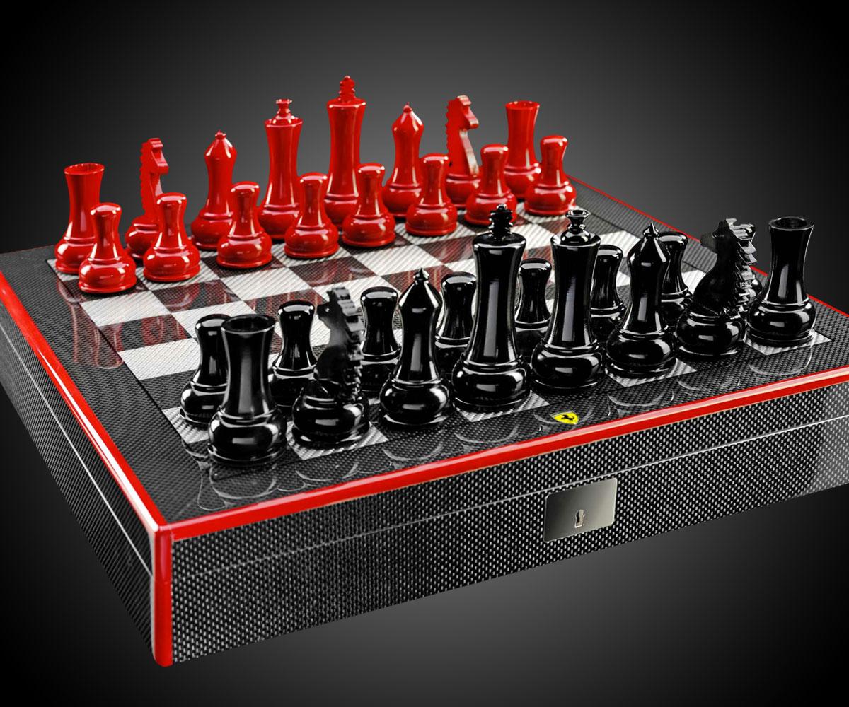 Great Ferrari Carbon Fiber Chess Set ...