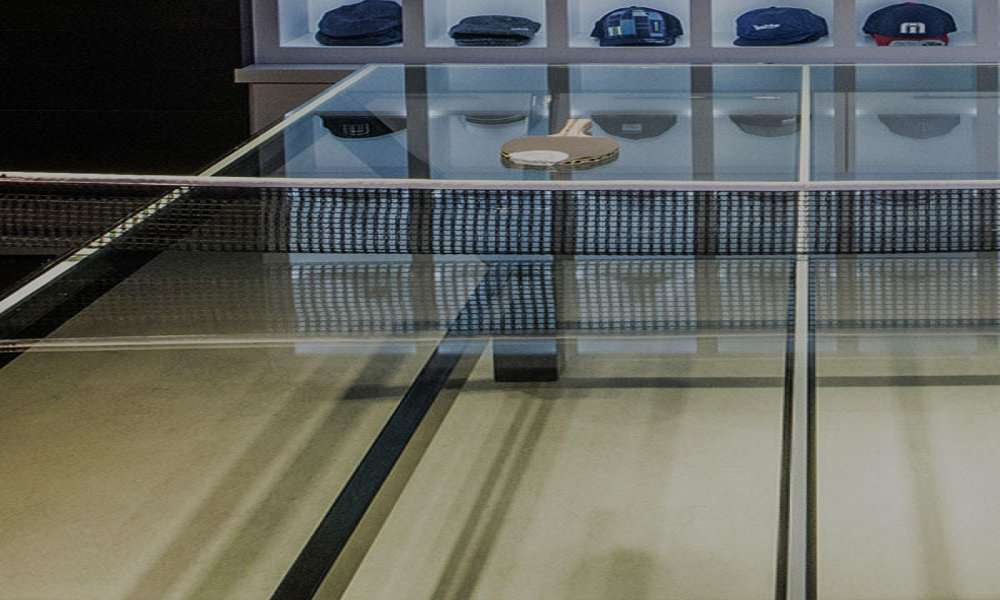 ... Glass Top Ping Pong Table ...