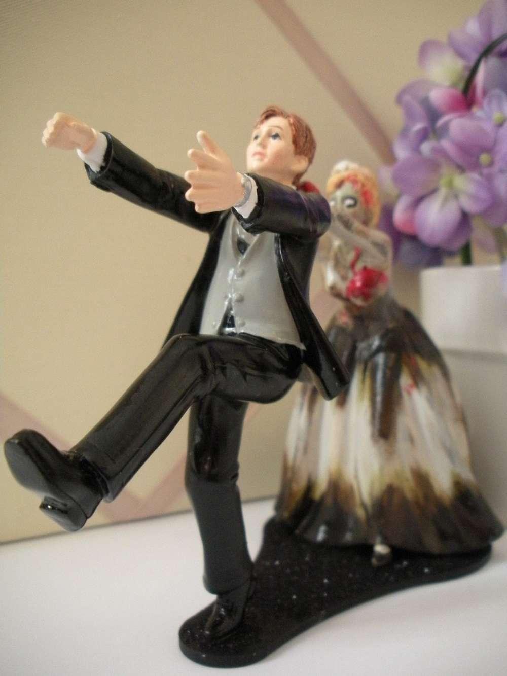 Zombie Wedding Cake Topper DudeIWantThatcom