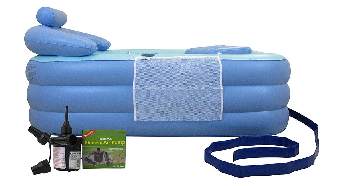 Inflatable Floating Bathtub | DudeIWantThat.com