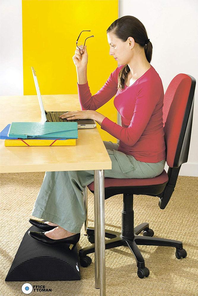 Office Ottoman Under Desk Ergonomic Foam Footrest