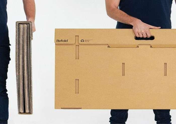 refold portable cardboard desk | dudeiwantthat