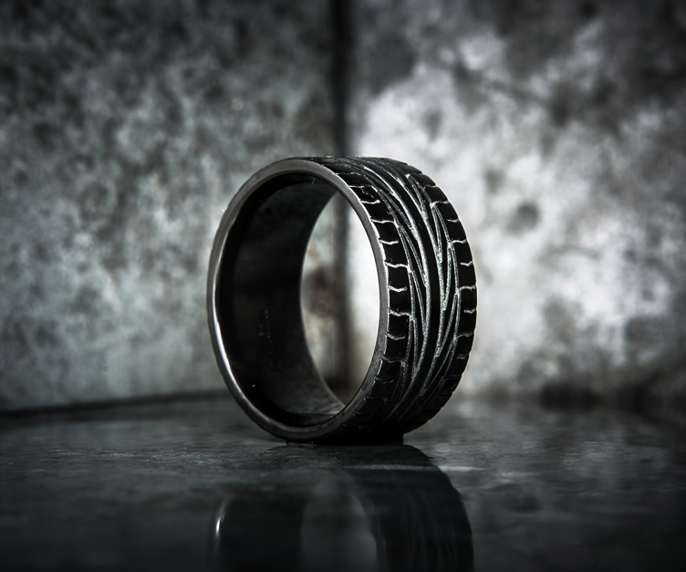 tire tread rings tire tread rings - Mud Tire Wedding Rings
