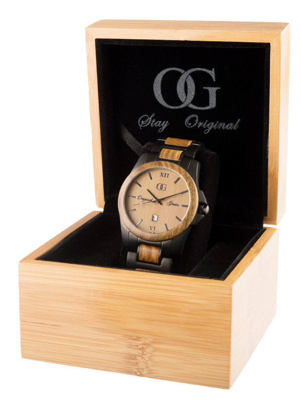 watches grain alterra barrel whiskey products watch original from steel chronogragh espresso wood chronograph
