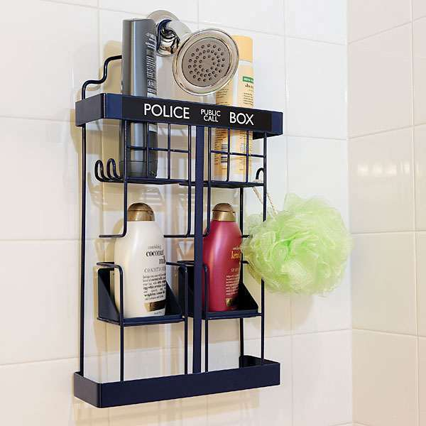 Doctor Who TARDIS Shower Rack | DudeIWantThat.com
