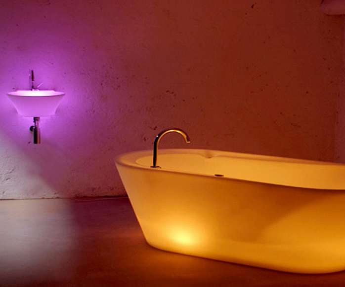 Charming ... Illuminated Neon Bathtubs ...