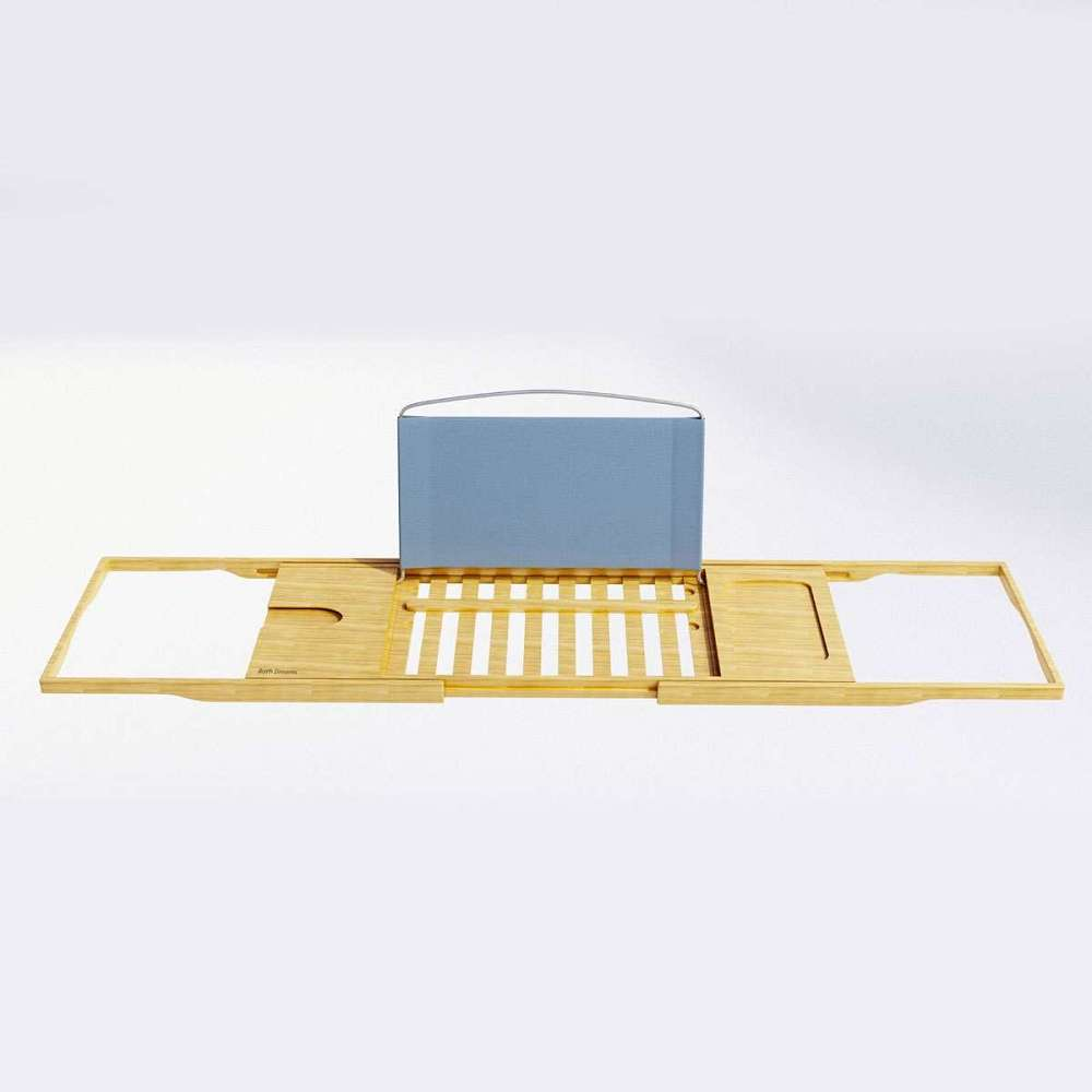 Luxury Bamboo Bathtub Caddy | DudeIWantThat.com