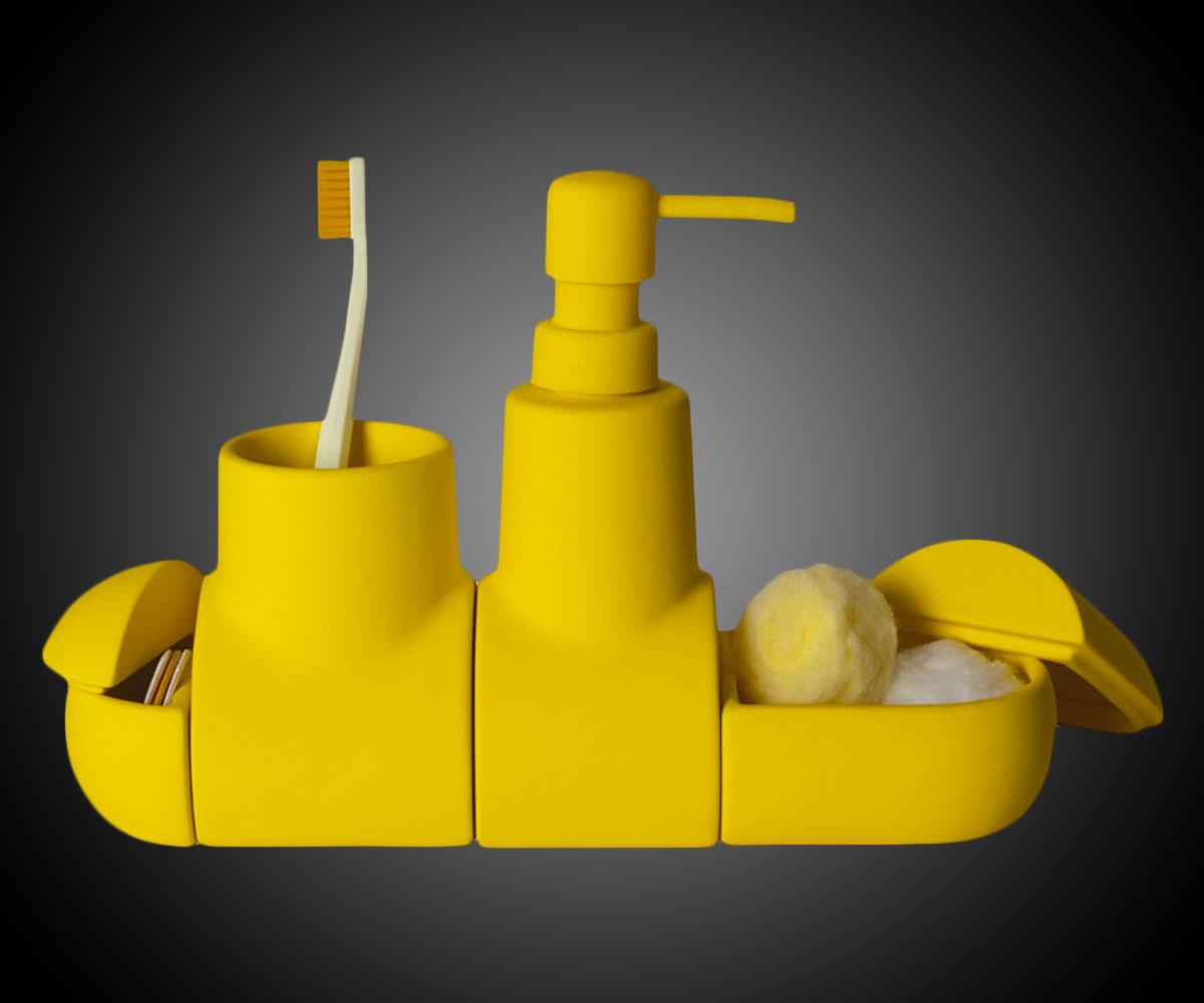 Yellow Submarine Bathroom Accessory Set Dudeiwantthat Com