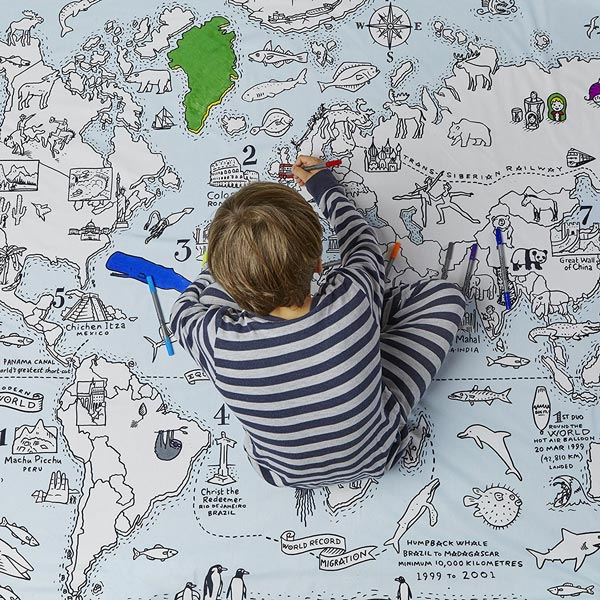 Doodle world map duvet cover dudeiwantthat doodle world map duvet cover gumiabroncs Choice Image