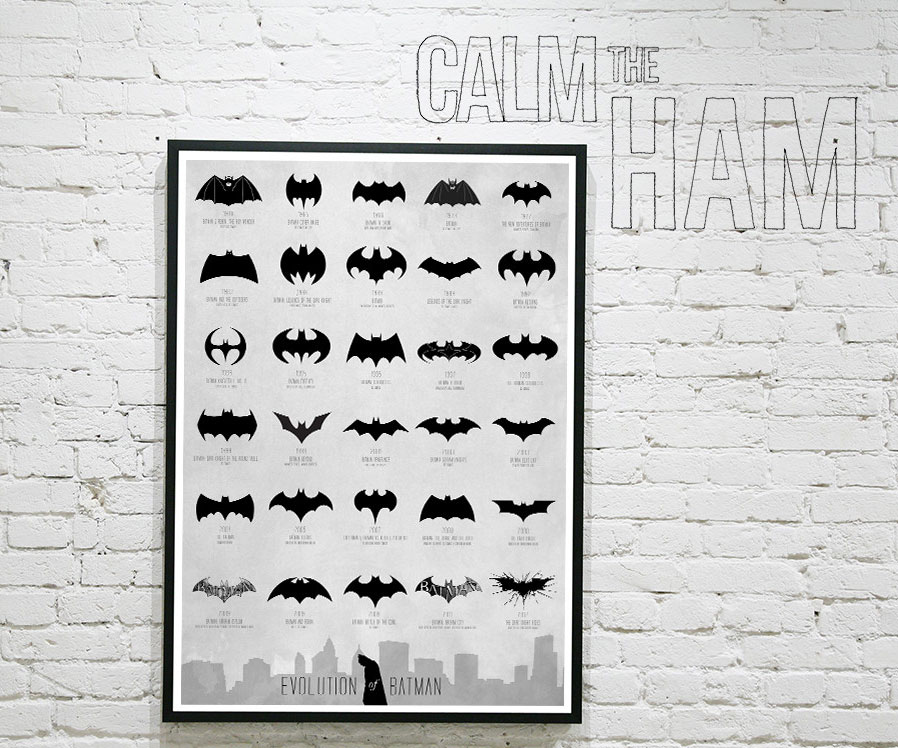 Evolution Of The Bat Signal Poster Dudeiwantthat