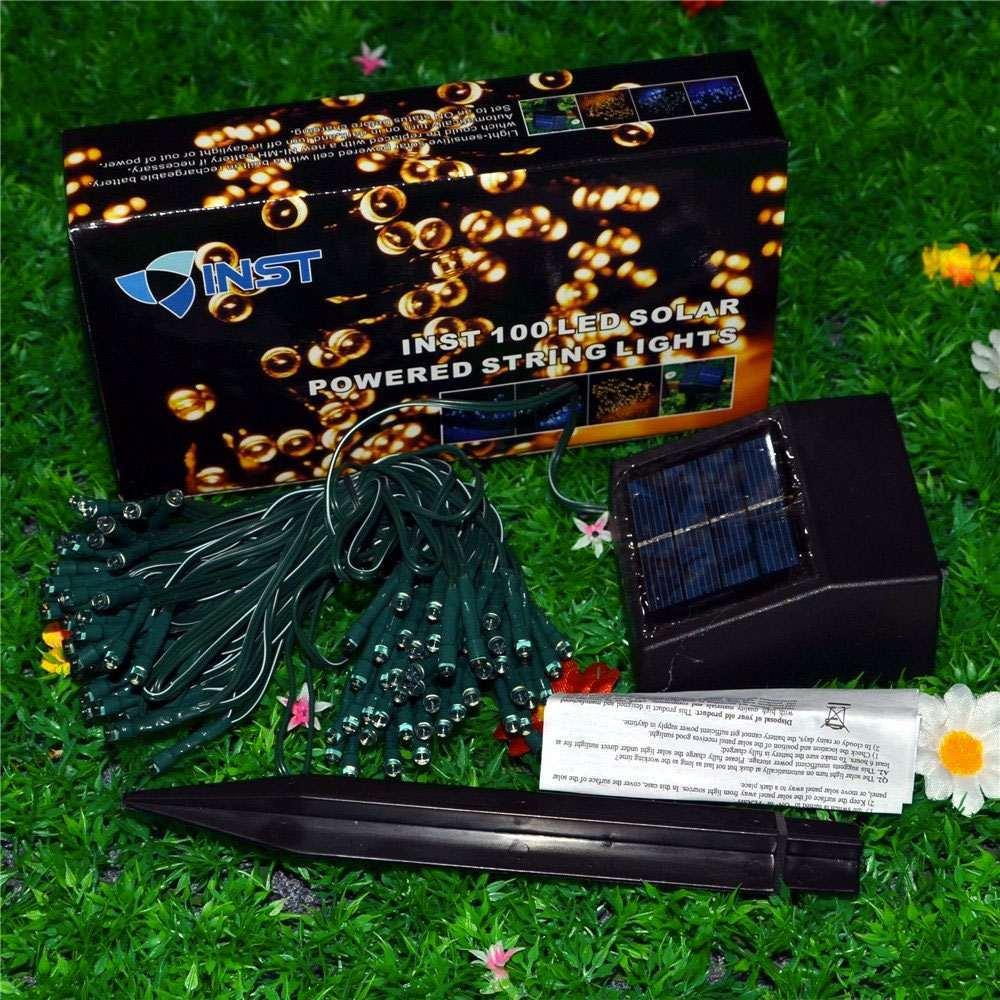 Solar Powered Christmas Lights DudeIWantThatcom