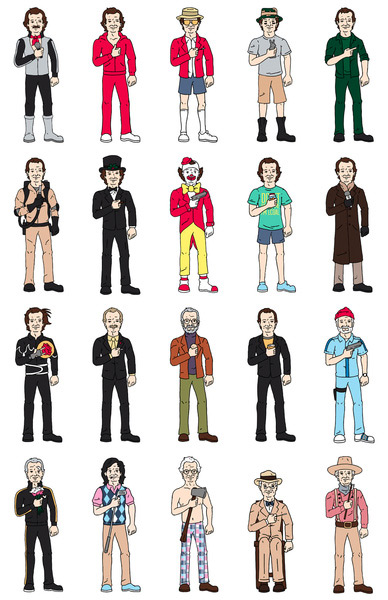 the many incarnations of bill murray print - Bill Murray Coloring Book