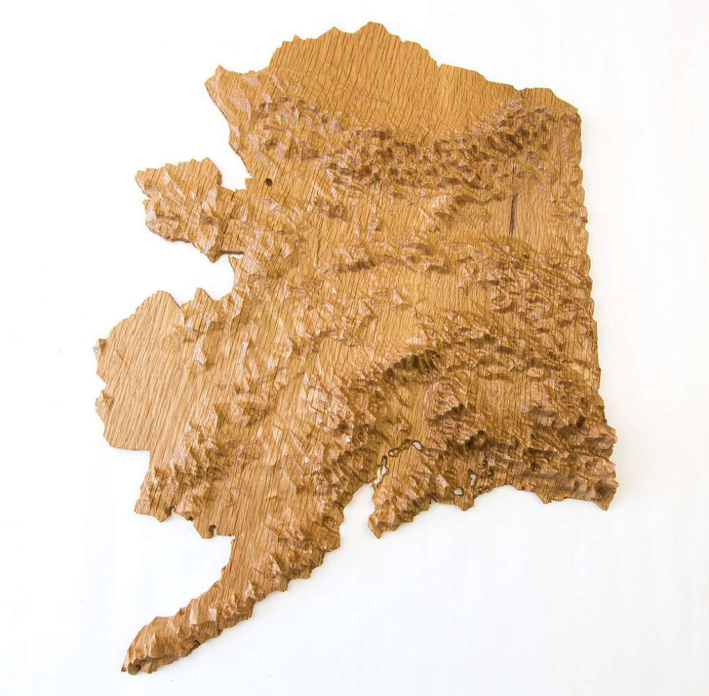 US State D Wood Topographic Maps DudeIWantThatcom - Topographic map of us states