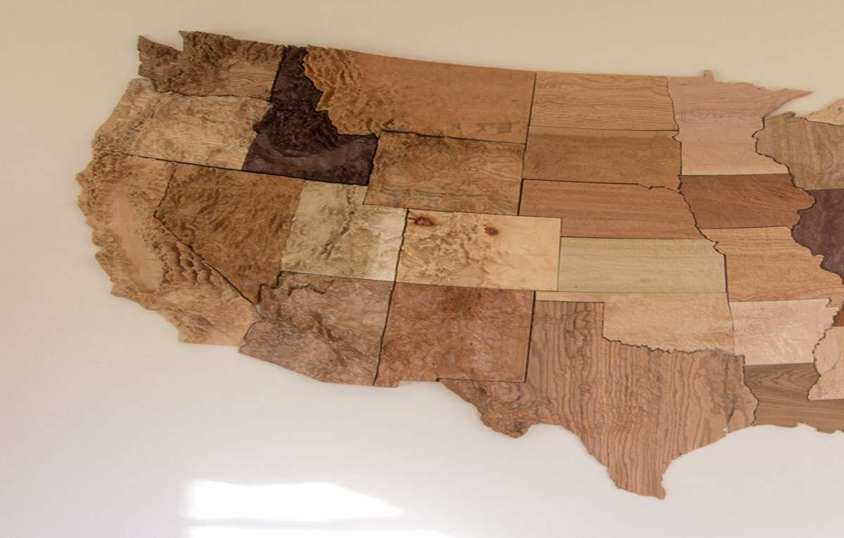 US State D Wood Topographic Maps DudeIWantThatcom - 3d topographical map of us