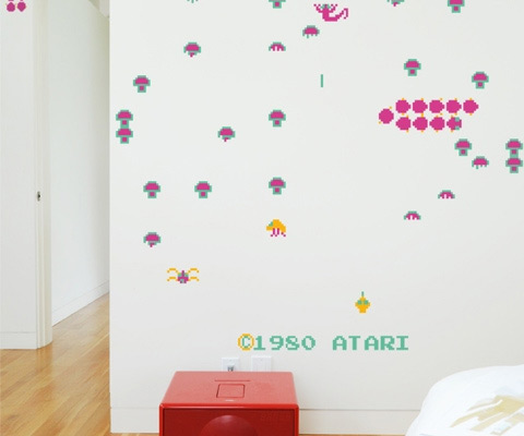 Fabulous  Video Game Wall Decals Atari Centipede