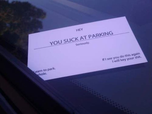 You Suck At Parking Business Cards Dudeiwantthat Com