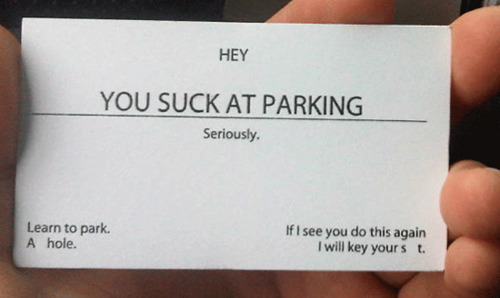 You suck at parking business cards dudeiwantthat you suck at parking business cards colourmoves