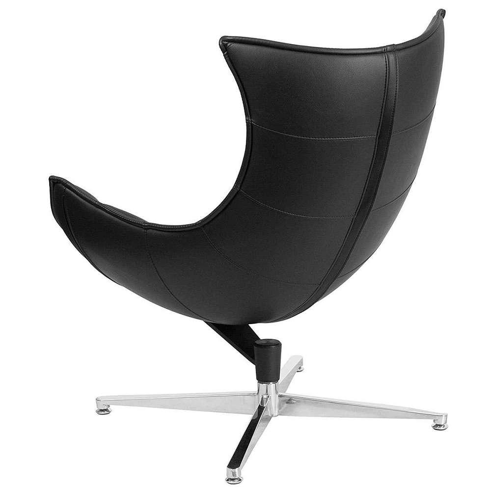... Bomber Jacket Leather Swivel Cocoon Chair ...