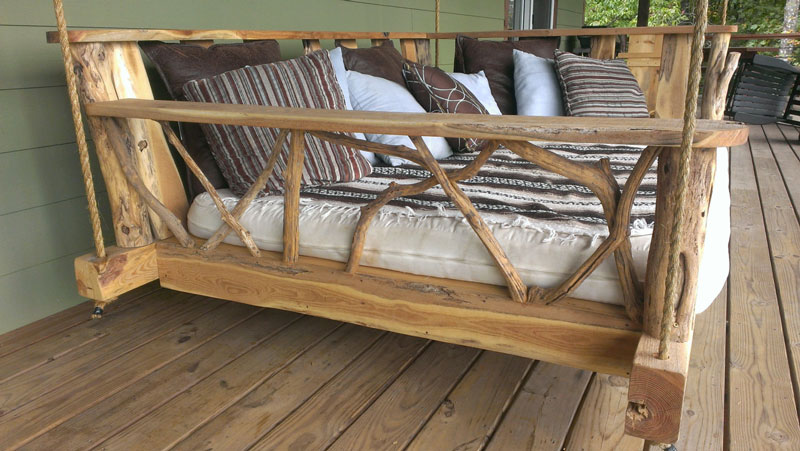 Beautiful Rustic Porch Swing Bed · Rustic Porch Swing Bed
