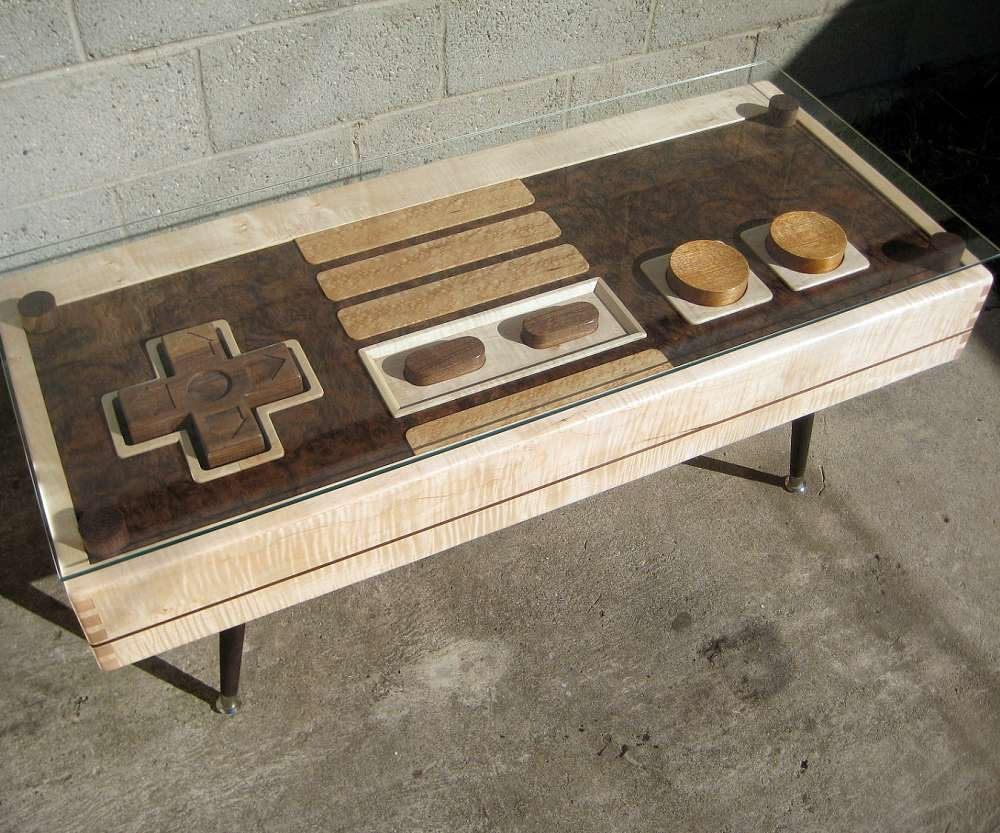 Working Nintendo Controller Coffee Table With Gl Top