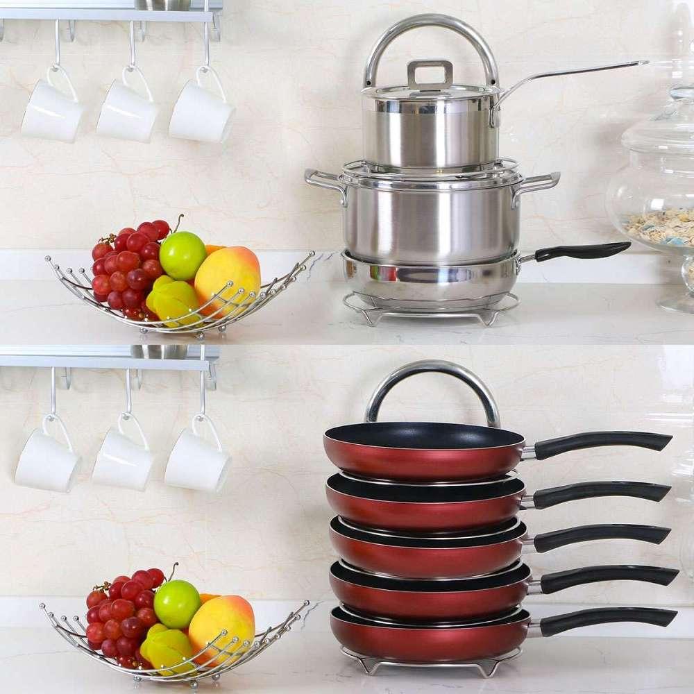 height adjustable pot u0026 pan organizer rack