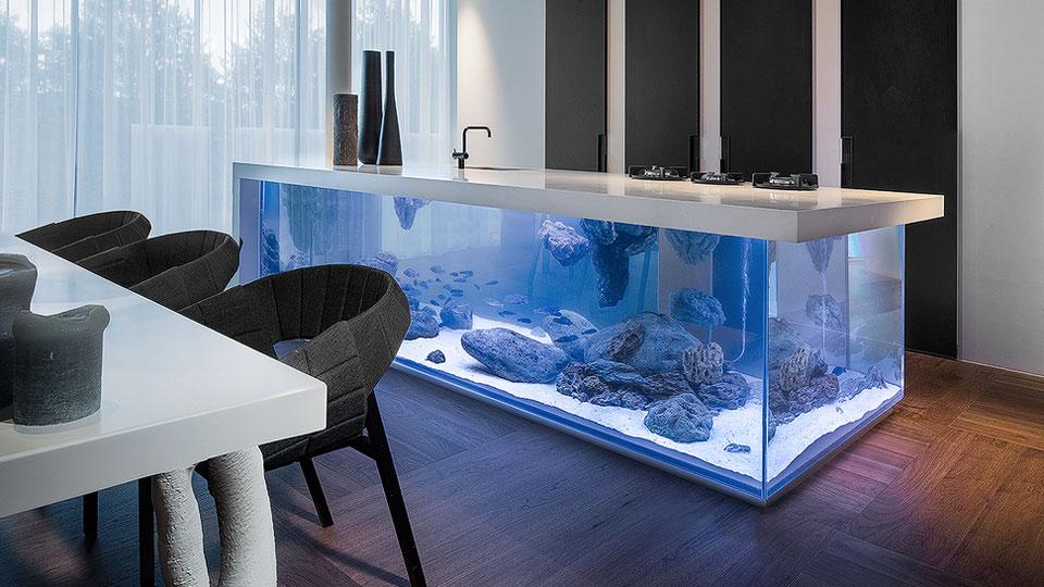 Fresh  Ocean Kitchen Aquarium Island