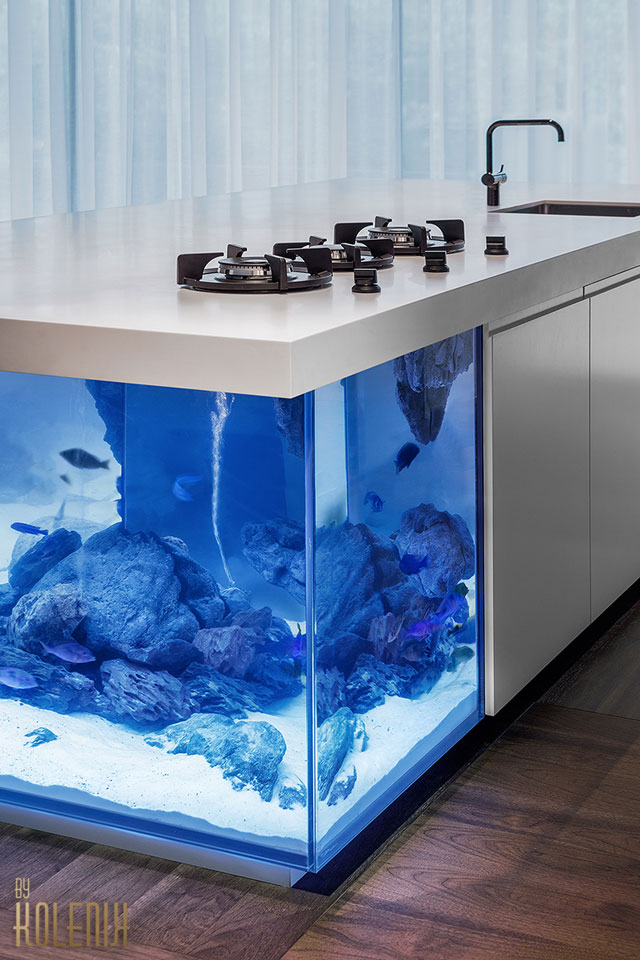 Marvelous  Ocean Kitchen Aquarium Island