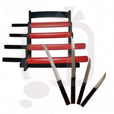 samurai kitchen knife set   dudeiwantthat