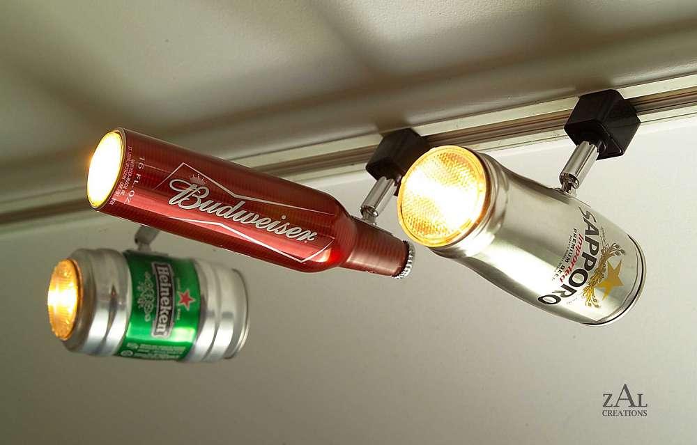 Beer can track lighting dudeiwantthat beer can track lighting aloadofball Gallery