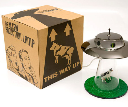 ... Alien Abduction Lamp and Packaging