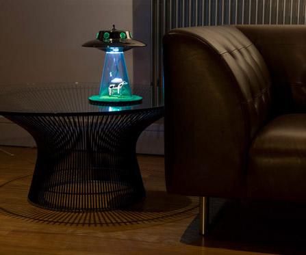 ... Alien Abduction Lamp   Lit On Table ...