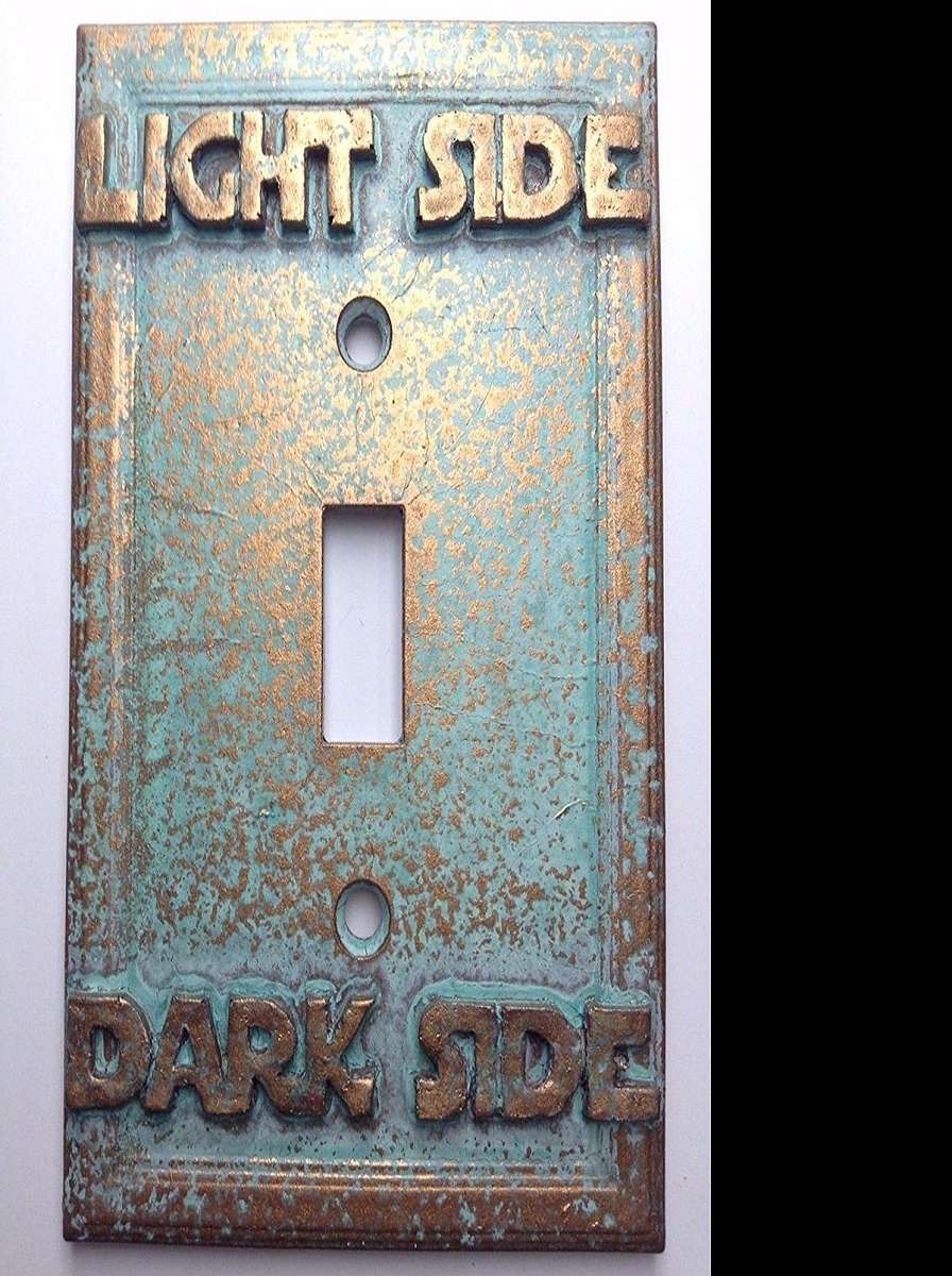 Decorative Light Switch Plates Endearing Light Side  Dark Side Switch Plate Cover  Dudeiwantthat Design Inspiration