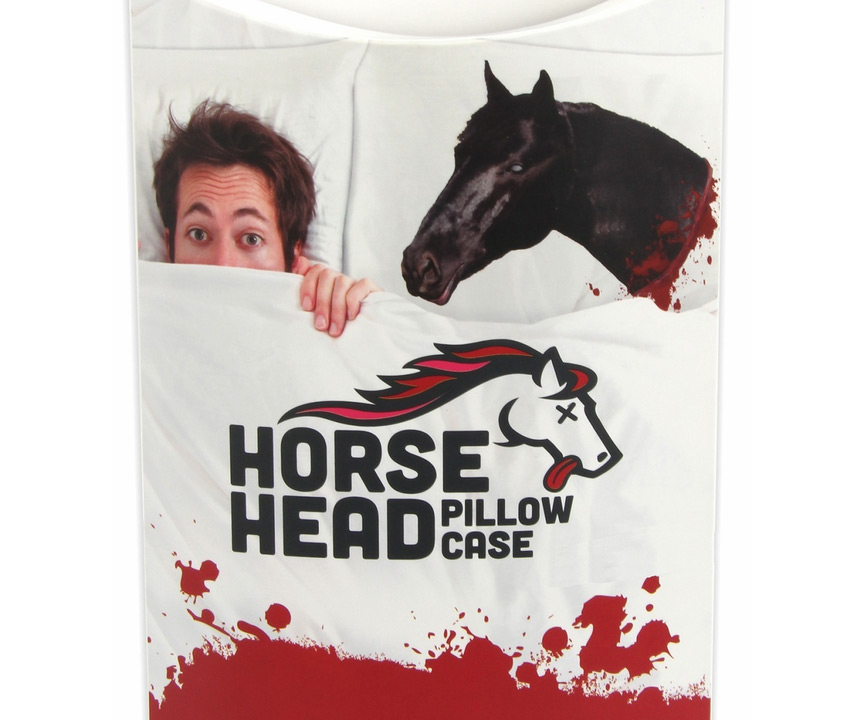 decapitated horse head pillow case packaging - Horses Head Pillow