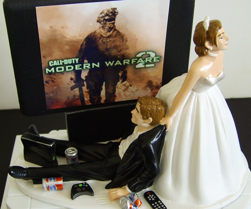 Video Junkie Wedding Cake Topper Top View