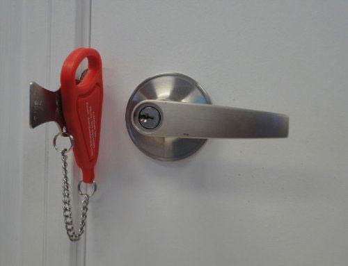 Addalock Portable Door Lock; Addalock Portable Door Lock ... & Add-A-Lock Portable Door Lock | DudeIWantThat.com Pezcame.Com