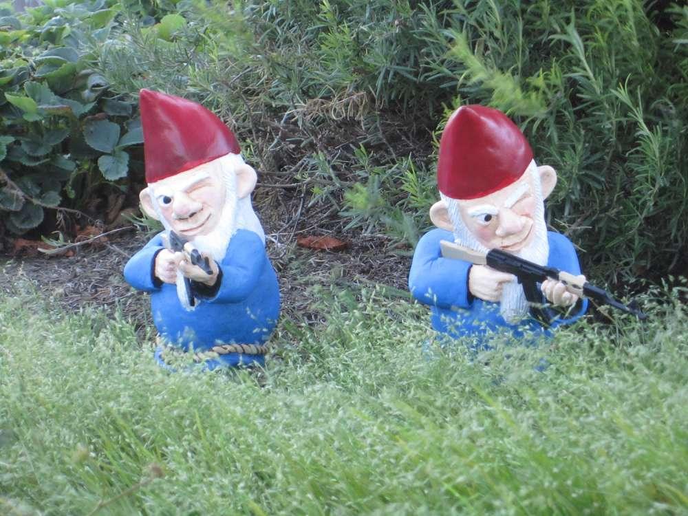 Merveilleux ... Combat Garden Gnome ...