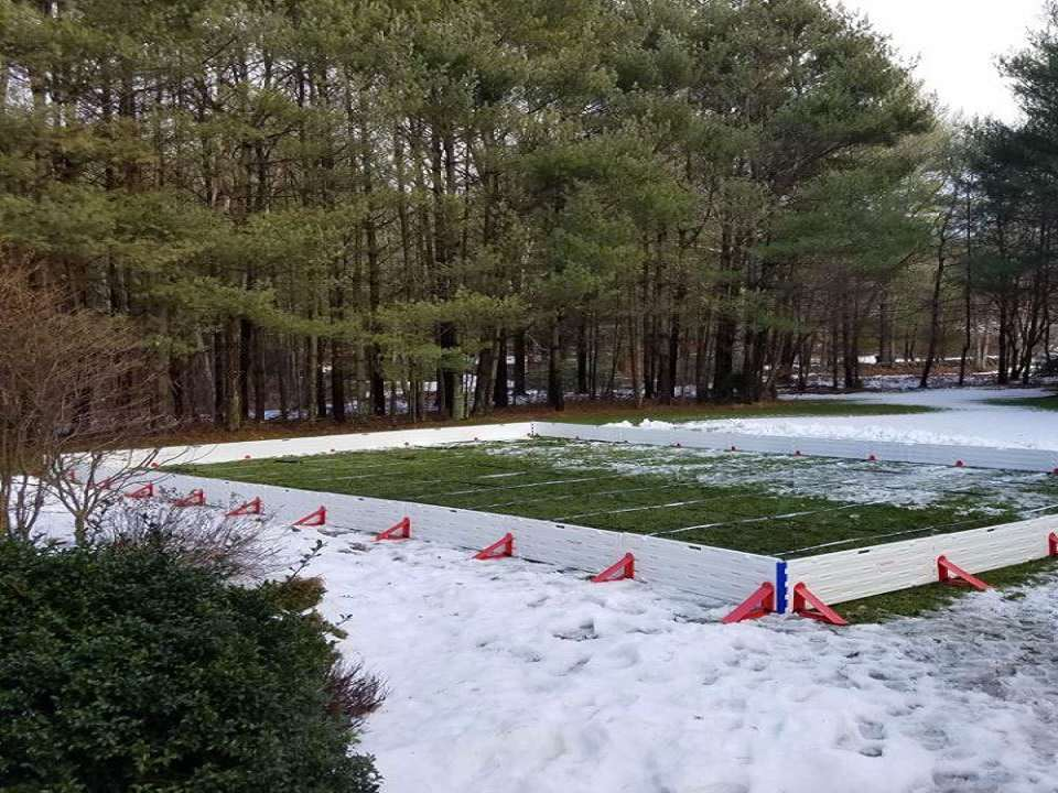 How To Build Ice Rink In Backyard ez ice - diy 60-minute backyard ice rink | dudeiwantthat