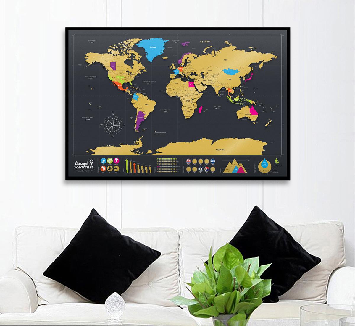 Travelscratcher scratch off world map dudeiwantthat travelscratcher scratch off world map gumiabroncs Choice Image