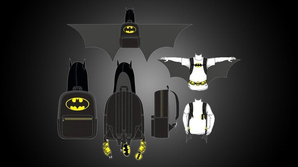 Batman Hooded   Winged Backpack ... 2f68c0afcf07b