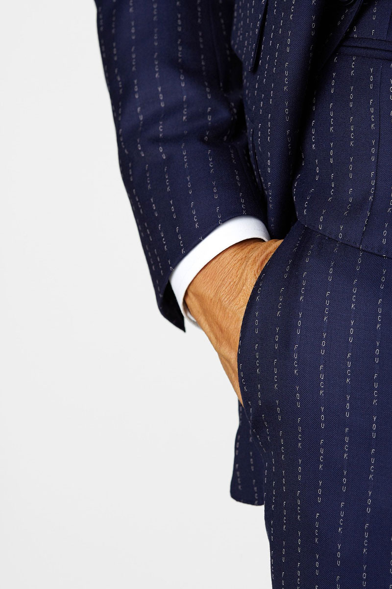 bf6918aa045b4 Conor McGregor F*ck You Pinstripe Suit