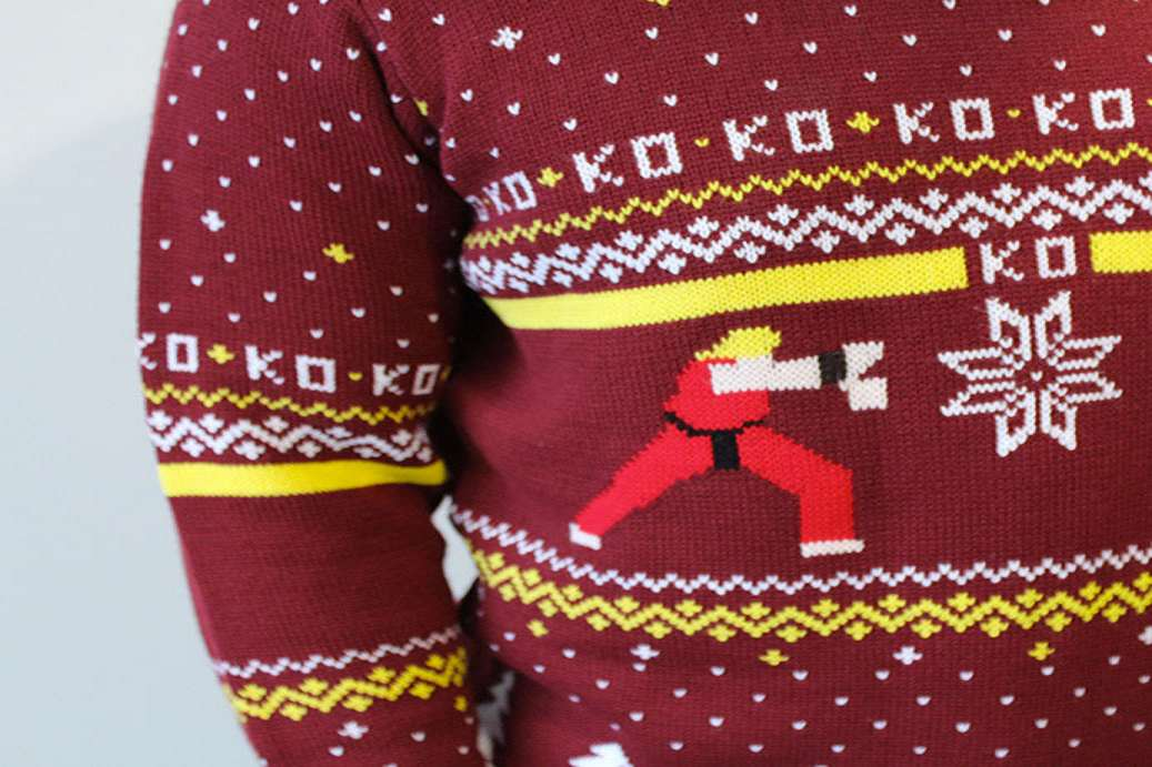 Street Fighter Ugly Christmas Sweater | DudeIWantThat.com