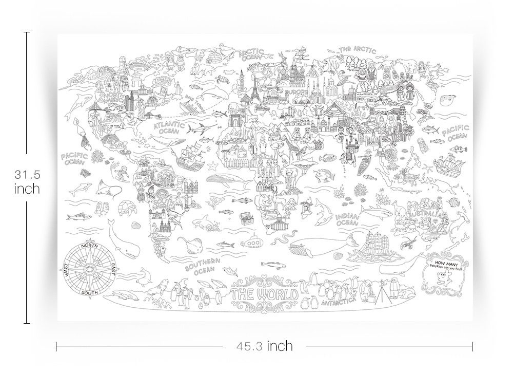The World Giant Coloring Poster